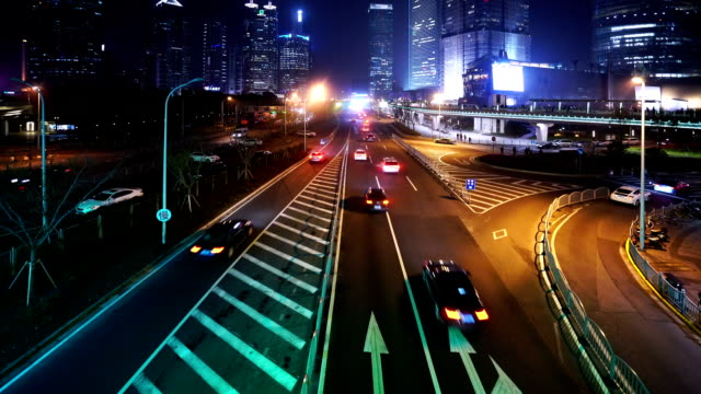 HD real-time video , in Shanghai at Night