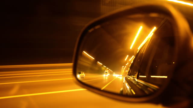 rear mirror pov - road marking stock videos & royalty-free footage