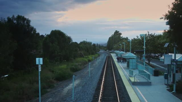 Rear View From Train Leaving Station
