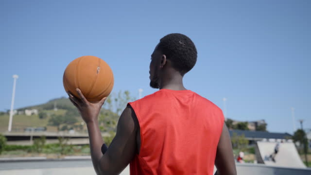 rear view of a player spinning a basketball - showing off stock videos & royalty-free footage