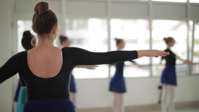 rear view of ballet dancer - ballet studio stock videos & royalty-free footage