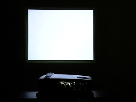 rear view of digital projector - projection equipment stock videos & royalty-free footage