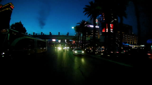 rear view of driving in las vegas at night passing cvs store - cvs caremark stock videos & royalty-free footage