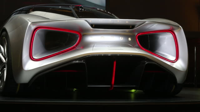 rear view of lotus evija electric hypercar london england uk on tuesday july 16 2019 - rear view stock videos & royalty-free footage