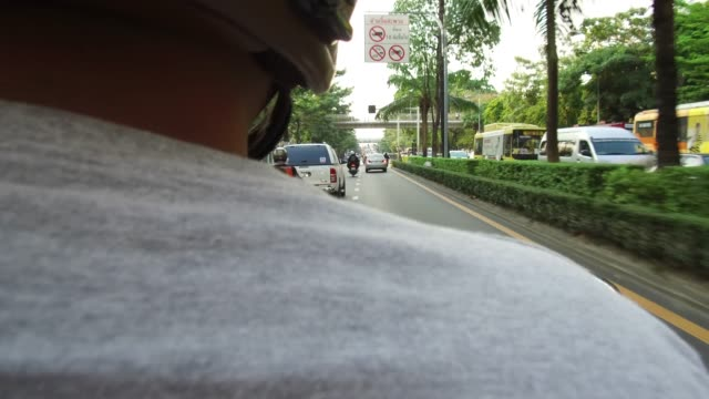 rear view of motorcycle driver. - speedometer stock videos & royalty-free footage