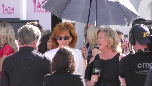 reba mcentire arriving to the 52nd academy of country music awards in celebrity sightings in las vegas - academy of country music awards stock videos & royalty-free footage