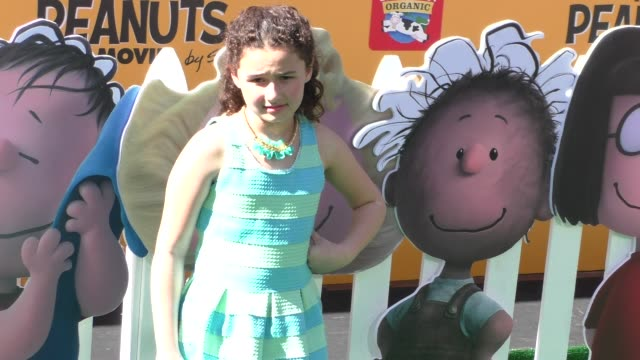 Rebecca Bloom at The Peanuts Movie Premiere at Regency Village Theatre in Westwood on November 01 2015 in Los Angeles California