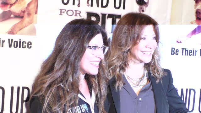 rebecca corry & cheri oteri at stand up for pits comedy benefit at the improv comedy club in west hollywood in celebrity sightings in los angeles, - sketch comedy stock videos & royalty-free footage