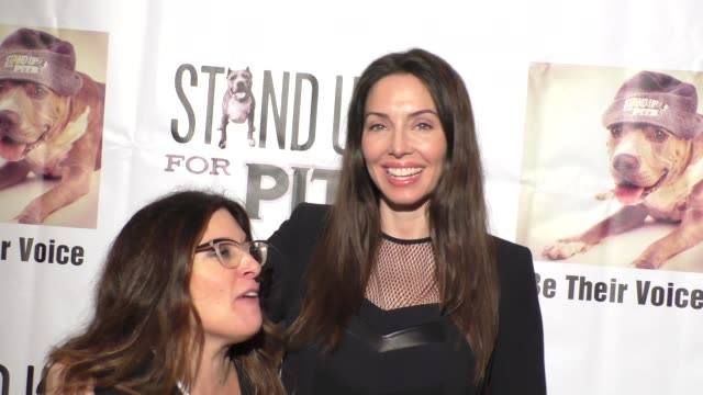 rebecca corry & whitney cummings at stand up for pits comedy benefit at the improv comedy club in west hollywood in celebrity sightings in los... - sketch comedy stock videos & royalty-free footage