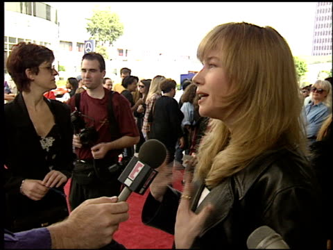 rebecca de mornay at the premiere of 'the three musketeers' on november 6 1993 - anno 1993 video stock e b–roll