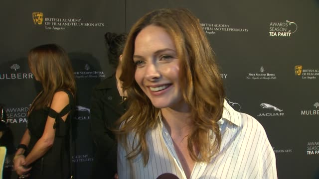 interview rebecca ferguson on being a part of the afternoon what bafta's support means to her the last time she had high tea at bafta la 2014 awards... - season 11 stock videos and b-roll footage