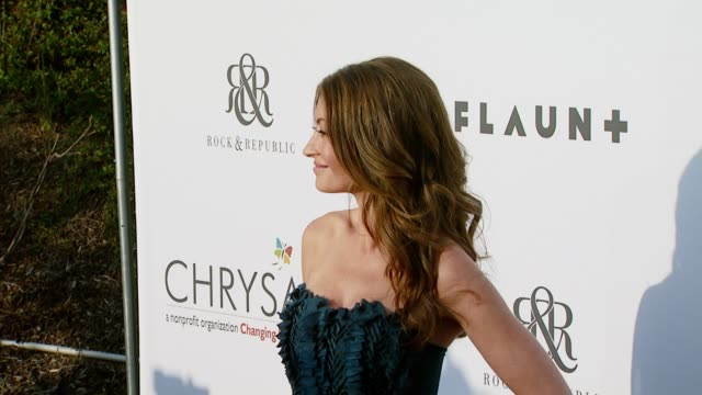 rebecca gayheart at the chrysalis butterfly ball at a private residence in los angeles california on june 2 2007 - chrysalis butterfly ball video stock e b–roll
