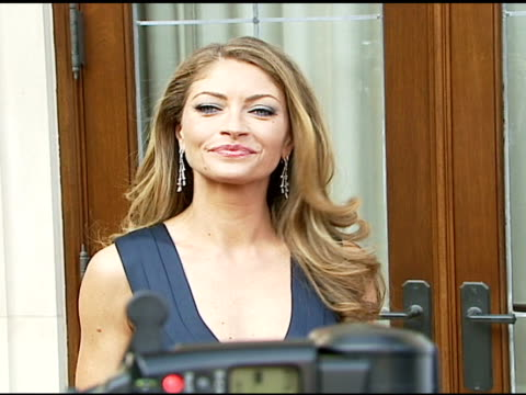 rebecca gayheart at the chrysalis' fifth annual butterfly ball at private residence in bel air, california on june 10, 2006. - chrysalis butterfly ball video stock e b–roll