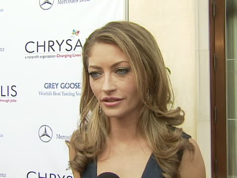 rebecca gayheart on how she got involved with chrysalis and coming up with the idea for the butterfly ball why the organization is important her new... - chrysalis butterfly ball video stock e b–roll