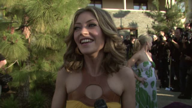 rebecca gayheart on the charity the event her role as cochair at the 7th annual chrysalis butterfly ball at los angeles california - chrysalis butterfly ball video stock e b–roll