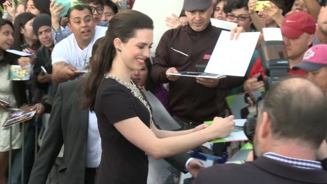 Rebecca Hall at the Transcendence Los Angeles Premiere at Regency Village Theatre on April 10 2014 in Westwood California