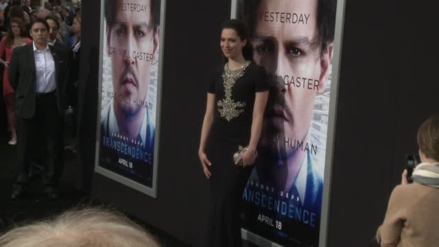 """rebecca hall at the """"transcendence"""" los angeles premiere at regency village theatre on april 10, 2014 in westwood, california. - regency village theater stock videos & royalty-free footage"""