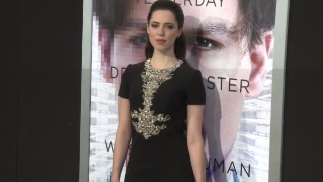 rebecca hall at the transcendence los angeles premiere at regency village theatre on april 10 2014 in westwood california - regency style stock videos and b-roll footage