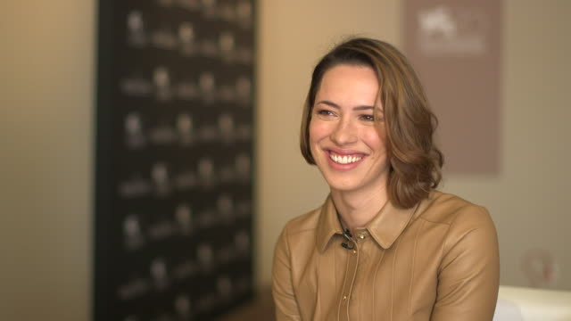 interview rebecca hall on if she would be a bond girl at 'une promesse ' interviews on september 05 2013 in venice italy - bond girl fictional character stock videos & royalty-free footage