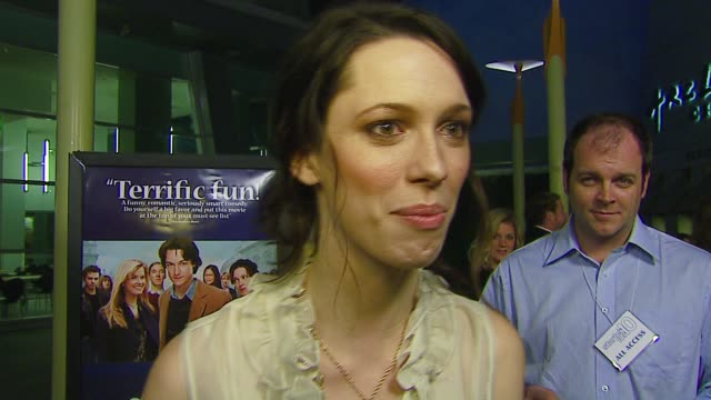 vídeos de stock, filmes e b-roll de rebecca hall on the premiere the film and tom hanks quiz shows at the 'starter for 10' los angeles premiere at arclight cinemas in hollywood... - arclight cinemas hollywood