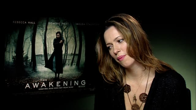 rebecca hall on working with other cast members at the the awakening interviews at london england - other stock videos & royalty-free footage