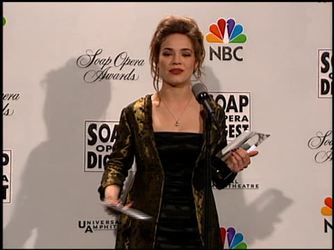 Rebecca Herbst at the Soap Opera Digest Awards entrances and press room at Universal Studios in Universal City California on February 26 1999