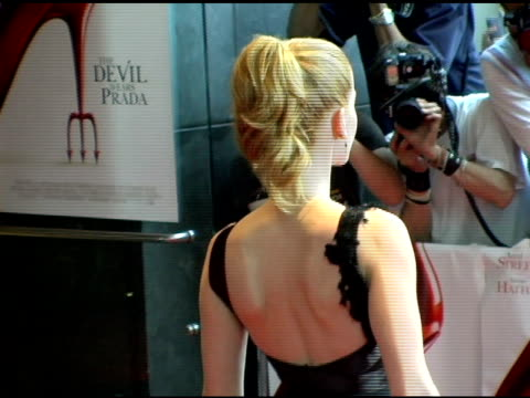 rebecca mader at the 'the devil wears prada' new york premiere at amc loews lincoln square in new york new york on june 19 2006 - the devil wears prada film title stock videos and b-roll footage