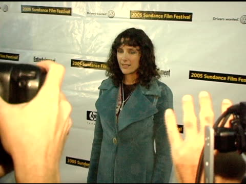 rebecca miller, director/screenwriter at the 2005 sundance film festival 'ballad of jack and rose' premiere at the eccles theatre in park city, utah... - 脚本家点の映像素材/bロール