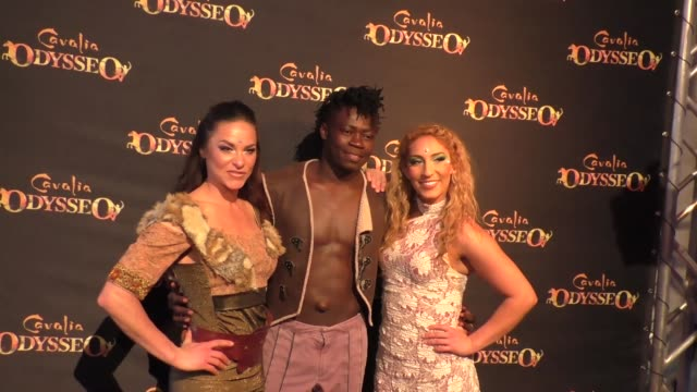rebecca ratle, michel kamane, and julissa panus at the premiere of cavalia's odysseo at the white big top in irvine at celebrity sightings in los... - irvine verwaltungsbezirk orange county stock-videos und b-roll-filmmaterial