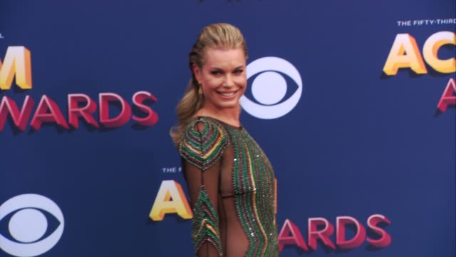 stockvideo's en b-roll-footage met rebecca romijn at the 53rd academy of country music awards at mgm grand garden arena on april 15 2018 in las vegas nevada - rebecca romijn