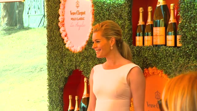 stockvideo's en b-roll-footage met rebecca romijn at the third annual veuve clicquot polo classic los angeles at will rogers state historic park on 10/6/12 in los angeles california - rebecca romijn