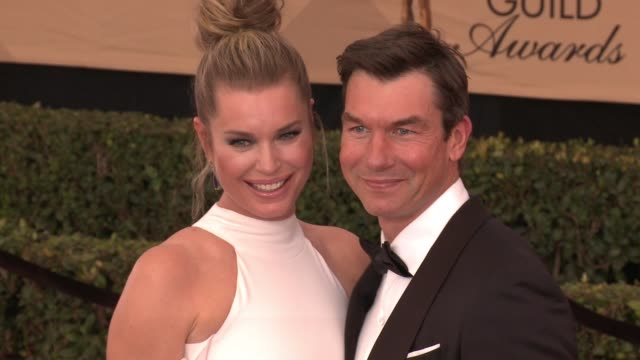 stockvideo's en b-roll-footage met rebecca romijn jerry o'connell at 23rd annual screen actors guild awards arrivals in los angeles ca - rebecca romijn