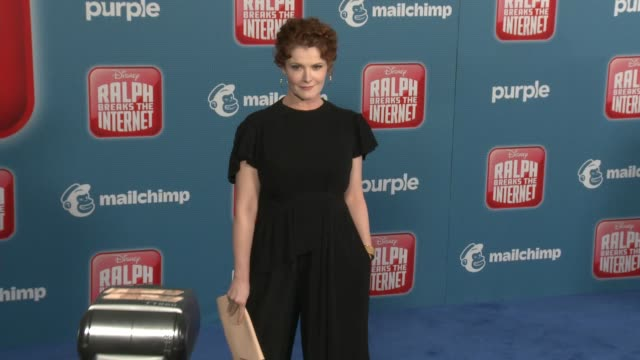 """rebecca wisocky at the """"ralph breaks the internet"""" world premiere at the el capitan theatre on november 05, 2018 in hollywood, california. - el capitan theatre stock videos & royalty-free footage"""
