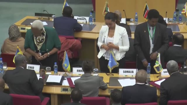 rebel chief riek machar and former secretary general of south south sudan's government pagan amum okiech, attend peace talks in addis ababa, ethiopia... - chairperson stock videos & royalty-free footage