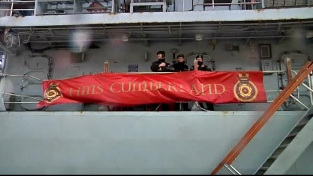 british special forces botched rescue mission ends in sas troops captured general view of hms cumberland ship armed british soldiers guarding hms... - guarding stock videos & royalty-free footage