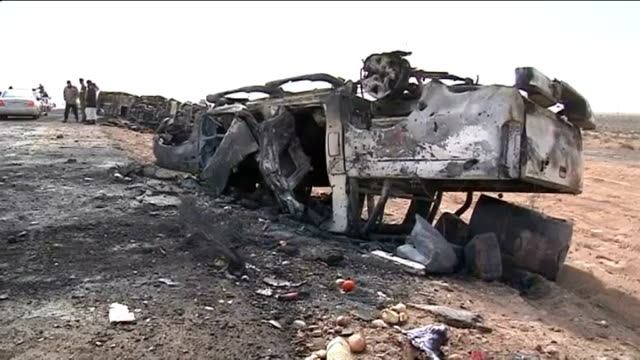 investigation into coalition air strike alleged to have killed 13 antigaddafi fighters eastern libya bishr between ajdabiya and brega ext libyan... - death stock videos & royalty-free footage