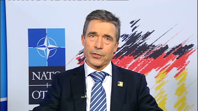 strategy: diplomacy; england: london: int anders fogh rasmussen 2 way interview from berlin sot - diplomacy stock videos & royalty-free footage