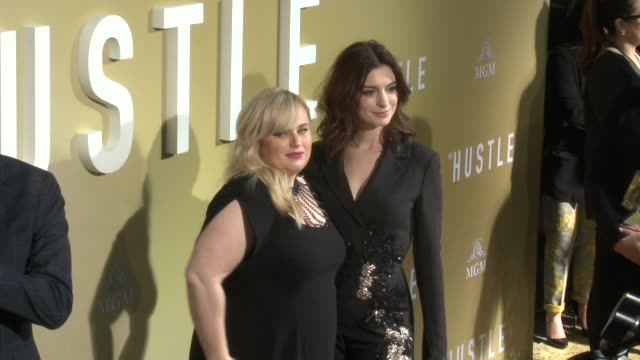 rebel wilson and anne hathaway at the the hustle world premiere at arclight cinerama dome on may 08 2019 in hollywood california - cinerama dome hollywood stock videos & royalty-free footage