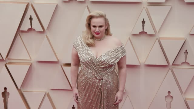 rebel wilson at the 92nd annual academy awards at dolby theatre on february 09, 2020 in hollywood, california. - academy awards stock videos & royalty-free footage