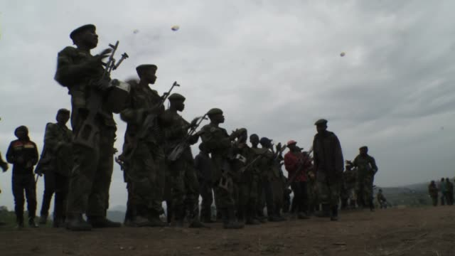 rebels declare violent overthrow of drc president joseph kabila should he fail to meet an ultimatum to step down by the end of this month. many... - democratic republic of the congo stock videos & royalty-free footage