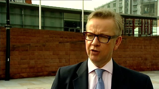 pcc receives complaints over daily mail article about ed miliband's father london ext michael gove mp interview sot don't believe politicians should... - article stock videos & royalty-free footage