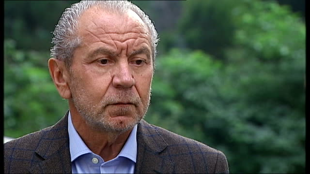 pcc receives complaints over daily mail article about ed miliband's father england ext lord sugar interview sot i think the shareholders of the daily... - alan sugar stock videos and b-roll footage