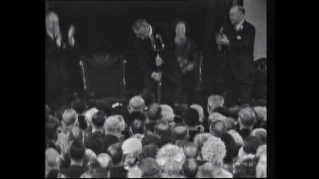 reception int government house for visiting us president lyndon b johnson: australian prime minister harold holt invites usa lyndon president to the... - jolly video stock e b–roll