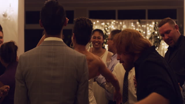 receptions are all about partying! - wedding reception stock videos & royalty-free footage