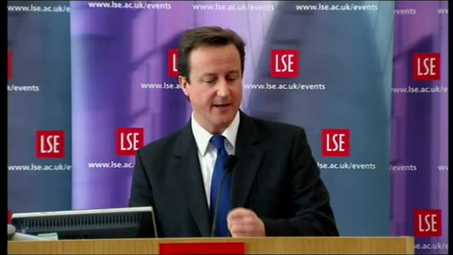 david cameron criticises government borrowing england london int david cameron mp speech sot the prime minister's strategy of temporary giveaways... - borrowing stock videos & royalty-free footage
