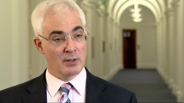 interview with chancellor of the exchequer alistair darling mp interview sot the action we have been taking has been for temporary period / not on... - alistair darling stock videos & royalty-free footage