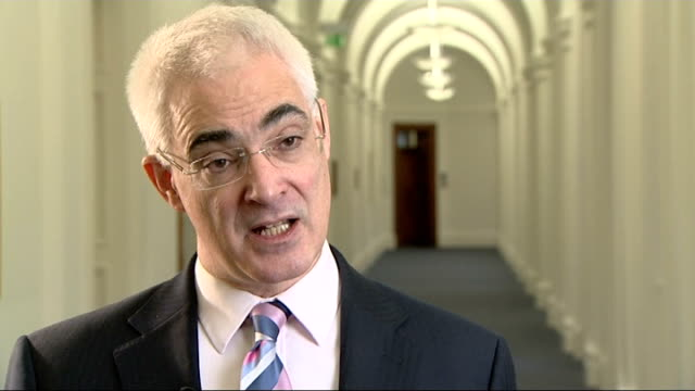 interview with chancellor of the exchequer england london treasury int alistair darling mp interview sot this is going to be difficult year for... - alistair darling stock videos & royalty-free footage