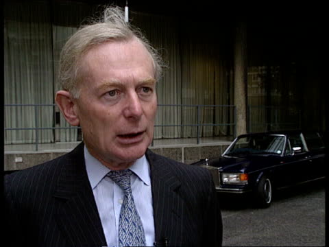 rolls royce ext cms sir david plastow intvwd sof sales have been halved/ expects situation to continue naf - rolls royce stock videos & royalty-free footage