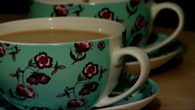 whittard of chelsea goes into administration england london int cup of tea poured into teacup - tea cup stock videos & royalty-free footage
