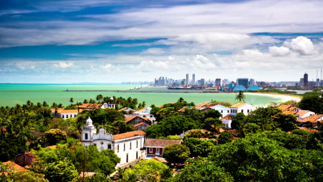 time lapse: recife and olinda brazil - recife stock videos and b-roll footage